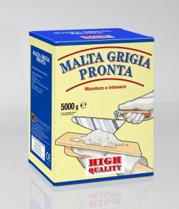 Malta grigia pronta